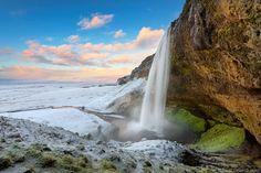 Beautiful waterfall in Iceland.