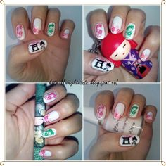 Unghiutze colorate-Happy nails: Alphabet nail art challenge - Letter D