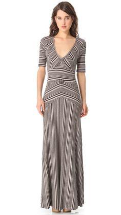 Heather  V Neck Maxi Dress