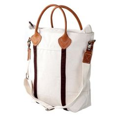 Amazon.com: CB Station - Savvy Satchel- NATURAL BROWN Canvas Bag: Home & Kitchen
