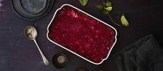 Mehevässä punajuurilaatikossa maistuu sinihomejuusto. Tarjoa punajuurivuoka joulupöydässä tai lisäkkeenä lihan kanssa. Grill Pan, Nom Nom, Steak, Grilling, Beef, Recipes, Food, Christmas, Griddle Pan