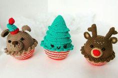 Новогодние игрушки крючком: собака, елочка, олень | AmiguRoom