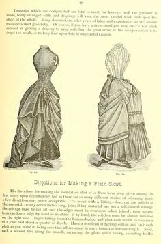 Hecklinger's ladies' garments good source for bustle skirts and trimming instructions