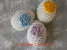 Free Crocheted Egg Pattern | Restyled Junk