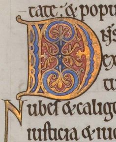 The Hunterian Psalter: Text of the Psalms. Calligraphy Doodles, Islamic Art Calligraphy, Calligraphy Alphabet, Medieval Manuscript, Medieval Art, Illuminated Letters, Illuminated Manuscript, Alphabet Symbols, Graffiti Alphabet