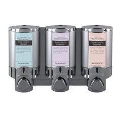 Pharmacopia Branded Amenity Dispenser - Satin Silver/Chrome -- considering this for our B&B showers