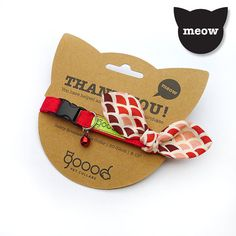 Knotty  Red Sea Scallops GOOOD Cat Collar by gooodpetcollars