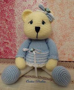 Lady abrazos Patron Amigurumi en PDF por OsitosDulces en Etsy Baby Afghan Crochet, Baby Afghans, Diy Crochet, Crochet Toys, Knitted Animals, Amigurumi Toys, Sewing Basics, Baby Crafts, Handmade Toys