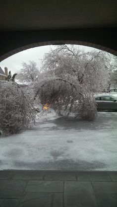The front of our home after the huge ice storm