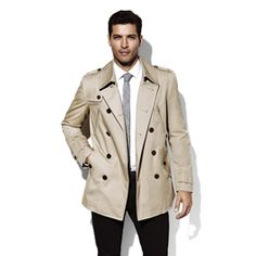 Vince Camuto  mens outerwear M2AC057 DB TRENCH COAT