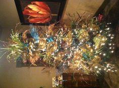 My peacock Christmas tree!