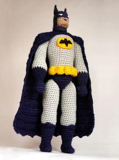 Crochet Amigurumi, Amigurumi Doll, Crochet Dolls, Slip Stitch Crochet, Single Crochet Stitch, Batman Crochet, Cute Crochet, Knit Crochet, Crochet Baby
