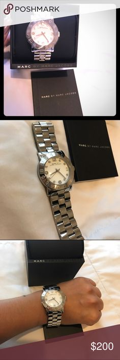 Marc Jacobs watch- Riley bracelet 28MM Brand new, never used. Still has protective plastic & comes in original box. No trades and no lowballing..perfect gift for the holidays!! Marc Jacobs Accessories Watches