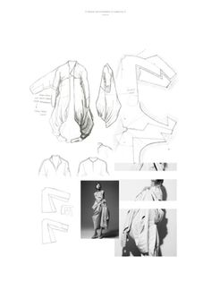 Coat Development_I Fashion Portfolio Layout, Fashion Design Sketchbook, Fashion Sketches, Sketchbook Layout, Sketchbook Inspiration, Minimal Book, Illustration Mode, Fashion Collage, Sketch Design