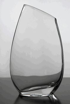 candle holders | Slanted Rim Glass Vase 10 in.