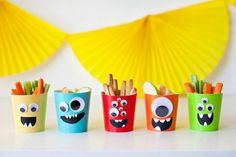 Baby Gear and Toys Cute monster birthday party food idea Monster Party Food 1st Birthdays, Birthday Party Snacks, Halloween Birthday, 2nd Birthday Parties, First Birthdays, Halloween Halloween, Halloween Treats, Halloween Makeup, Halloween Costumes