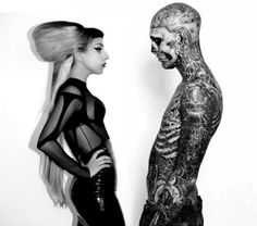 lady gaga and zombie boy rick genest Rick Genest, Moda Lady Gaga, Dandy, Drag Music, Mtv, Real Life Zombies, Divas, Lady Gaga Fashion, Boy Fashion