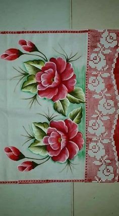 Fabric Paint Designs, Flower Sketches, One Stroke Painting, Fabric Painting, Veronica, Flowers, Beautiful, Painting Carpet, Paint Shirts