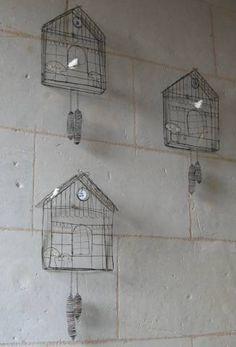 Wire Cuckoo Clocks - De Beaux Souvenirs
