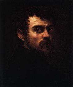Tintoretto, autoritratto (ca. 1547, Museum of Art, Philadelphia)