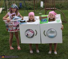 Costume da lavatrice, asciugatrice e cesto per Carnevale