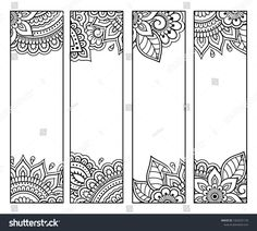 Bookmarks For Books, Creative Bookmarks, Diy Bookmarks, Bookmarks To Color, Mandala Coloring, Colouring Pages, Coloring Set, Coloring Books, Mandala Book