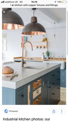 42 Most Popular Industrial Kitchen Design and Decor Ideas - .- 42 Most Popular Industrial Kitchen Design and Decor Ideas – DecoRecent 42 Most Popular Industrial Kitchen Design and Decor Ideas 70 - Kitchen Lighting Design, Industrial Kitchen Design, Kitchen Island Lighting, Kitchen Lighting Fixtures, Copper Lights Kitchen, Light Fixtures, Copper Taps Kitchen, Industrial Style, Light Fittings