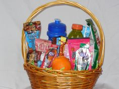 Marathon runner gift basket healthy gift ideas for christmas deluxe runners gift basket is a great post race by runnerspace 5999 negle Choice Image