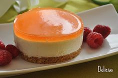 Tangerine Mousse (in Spanish) Mousse, Dessert Recipes, Desserts, Biscotti, Cake Pops, Cheesecake, Vanilla, Pudding, Favorite Recipes