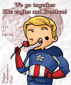 Captain America -- Derpvengers' Valentine's Day cards!