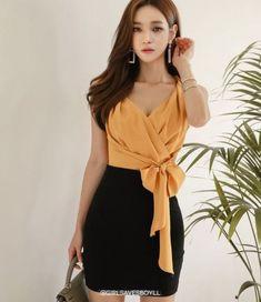 Xl Fashion, Japan Fashion, Look Fashion, Fashion Beauty, Womens Fashion, Fashion Design, Office Fashion, Korean Fashion Dress, Korean Outfits