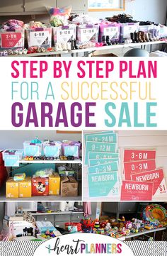 Your step by step guide to having a successful garage sale. Learn how to have an organized garage sale, how to price items for your garage sale, how to plan your garage sale, and more to maximize your garage sale profits! Garage Sale Signs, Yard Sale Signs, Garage Sale Pricing, For Sale Sign, Garages For Sale, Garage Sale Organization, Organizing, Life Organization, Garage Storage