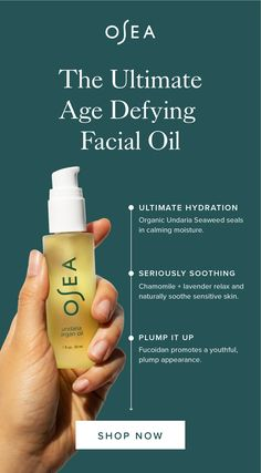 Hydrate, soothe, and plump your skin with the ultimate natural skin oil! With natural extracts from algae, argan, and chamomile it has everything your skin needs! Oily Skin Care, Skin Care Regimen, Anti Aging Skin Care, Skin Care Tips, Dry Skin, Beauty Care, Beauty Skin, Health And Beauty, Beauty Tips