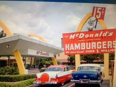McDonalds hamburger 15 cents!  via Vintage Pictures
