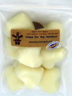HOME FOR THE HOLIDAYS - Premium Scented 4oz Soy Heart Melts