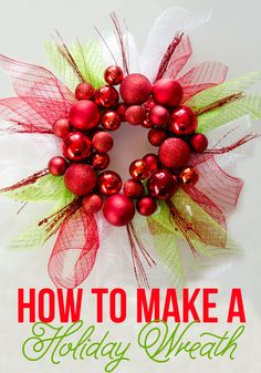 How To Make A Christmas Wreath with Love The Day