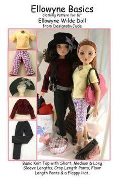 "longer bloomers// knickers 16/"" fashion dolls or slim msd gene ellowyne"