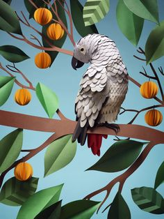 Swedish paper artist Fideli Sundqvist crafts gorgeously detailed paper animals and plants. Origami 3d, Origami Paper, Design Set, Paper Cutting, Paper Plants, Paper Magic, Paper Birds, Paper Illustration, Ideias Diy