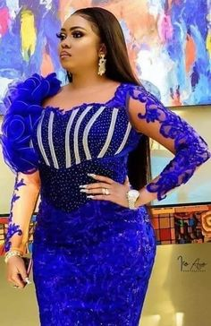 Nigerian Lace Styles Dress, Lace Gown Styles, African Lace Dresses, Latest African Fashion Dresses, African Dresses For Women, African Print Fashion, African Attire, African Fashion Traditional, Nigerian Traditional Attire