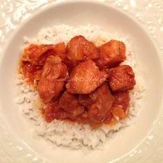 Sweet Little Bluebird: Crock Pot Sweet and Sour Chicken - Four Ingredients. Do in insta pot instead
