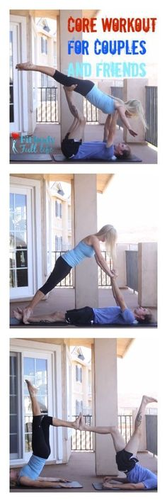 Core Workout for Couples and Friends from Fit Body Full Life (post contains embedded YouTube videos plus tips)