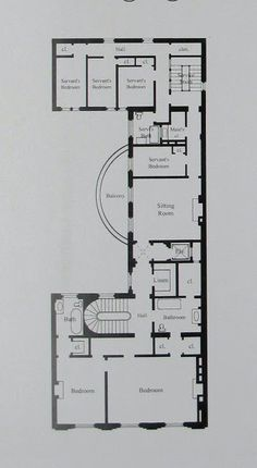 Ogden Codman's house, 7 East 96th Street | Second Floor Plan | BIG OLD HOUSES