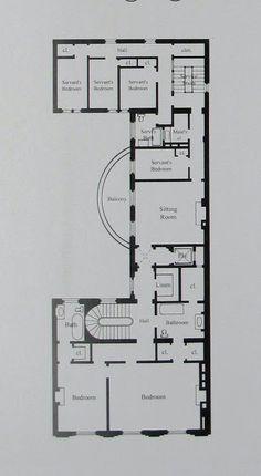 Ogden Codman's house, 7 East 96th Street | Second Floor Plan | BIG OLD HOUSES
