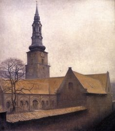 Petri Kirken in Copenhagen, 1906. (Vilhelm Hammershøi (1864–1916)