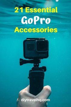 30 Best GoPro Accessories for Travel (Hero 8 Updat Travel Accessories For Men, Gopro Accessories, Camera Gear, Film Camera, Gopro Camera, Nikon Dslr, Gopro Photography, Photography Basics, Travel Accessories