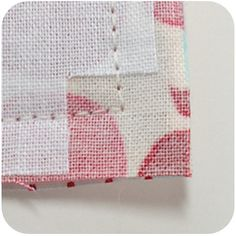 """How to get neater corners~other tips like this for sewing are in my """"tips and tricks"""" board :)"""