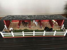 Bauernhof & Zoo - Schleich Schleichtier Pferde Stall Boxen - ein Designerstück von DorisWerkstatt bei DaWanda