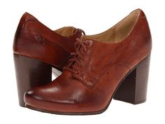 """Frye """"Carson"""" High Heel Leather Oxford, Women's Lace-Up Shoes Oxford Shoes Heels, Oxford Brogues, New Shoes, Oxfords, Women's Shoes, Women's Lace Up Shoes, Me Too Shoes, Bootie Boots, Shoe Boots"""