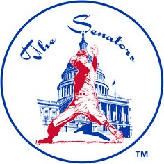 Washington Senators Primary Logo (1961) - A pitcher pitching in front of Capitol Building