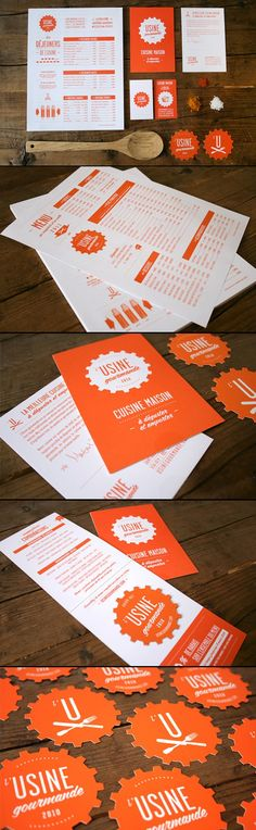 l'Usine Gourmande | Vincent Ramsay-Lemelin | #stationary #corporate #design #corporatedesign #identity #branding #marketing < repinned by www.BlickeDeeler.de | Take a look at www.LogoGestaltung-Hamburg.de